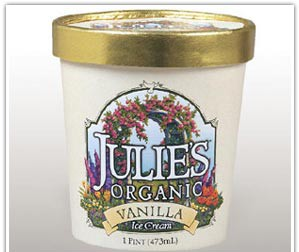 Julies Organic Vanilla Ice Cream